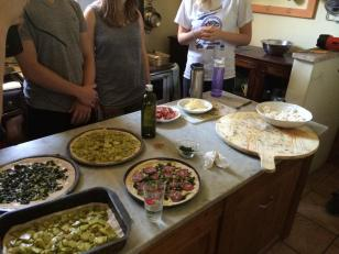 Homemade Pizzas by UNH Students