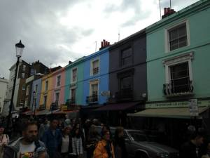 A photo of Portobello Market, captured by Maciejewski on one of her many trips to get unique souvenirs for family and friends.