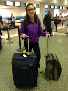 Hannah Drake about to depart on her semester abroad in Grenada, Spain.